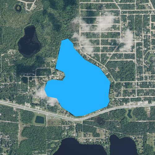 Fly fishing map for Lake Ida, Florida