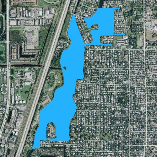 Fly fishing map for Lake Ida: Palm Beach, Florida