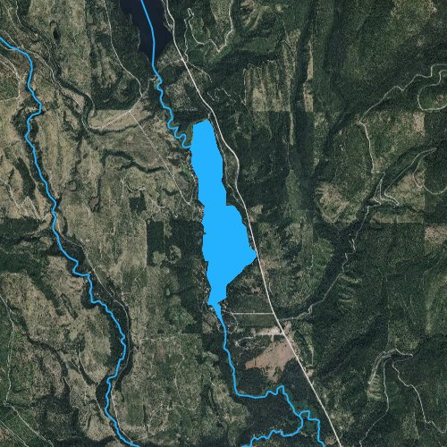 Fly fishing map for Lake Inez, Montana