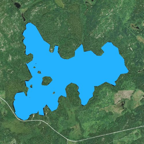 Fly fishing map for Lake Jeanette, Minnesota