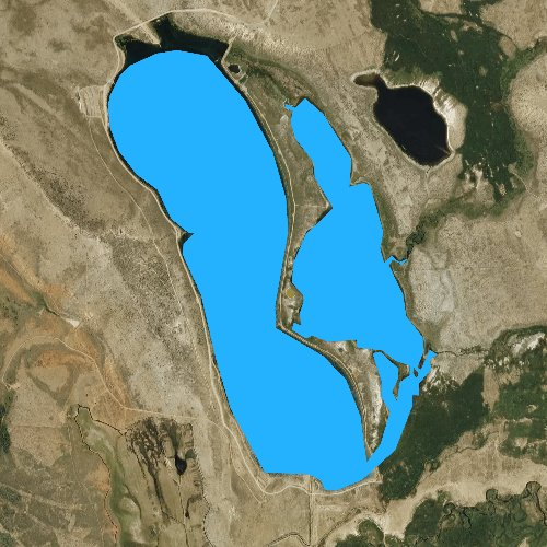 Fly fishing map for Lake John, Colorado