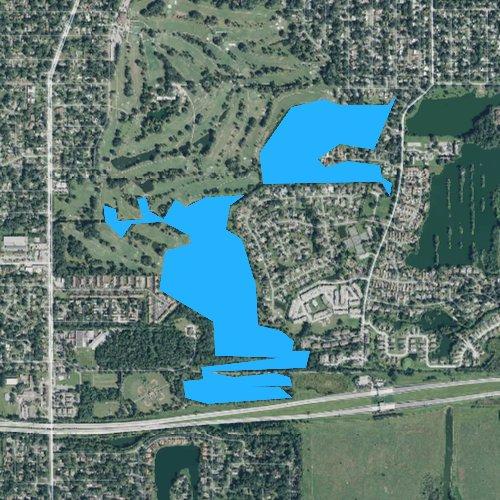 Fly fishing map for Lake John, Florida