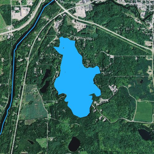 Fly fishing map for Lake Julia, Wisconsin