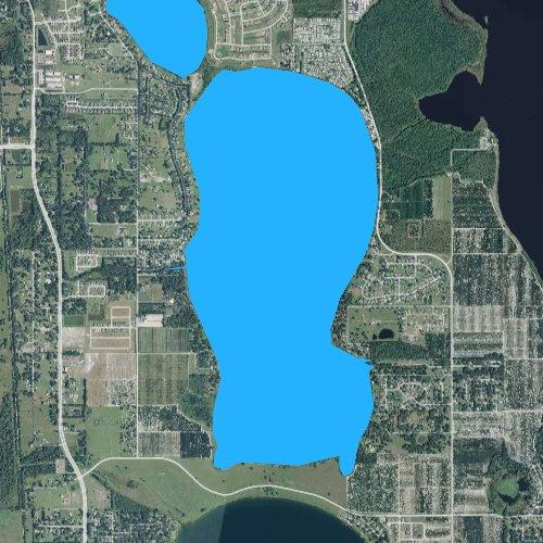 Fly fishing map for Lake Juliana, Florida
