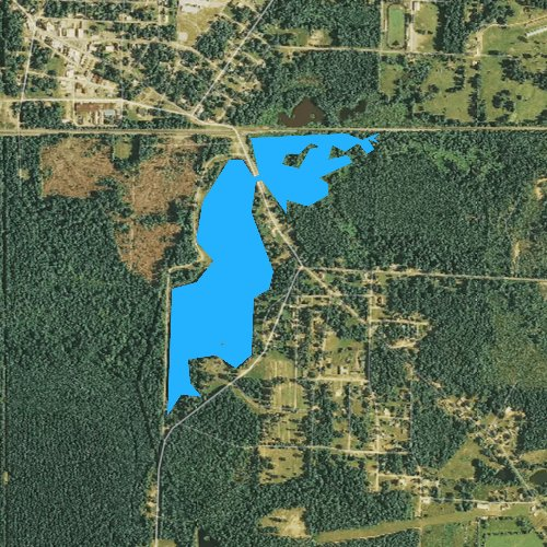 Fly fishing map for Lake June, Arkansas