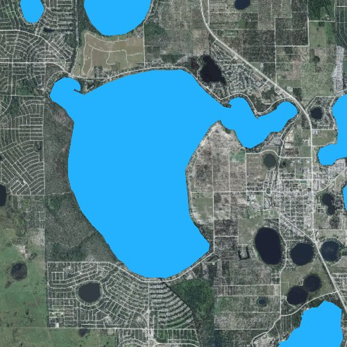 Fly fishing map for Lake June in Winter, Florida