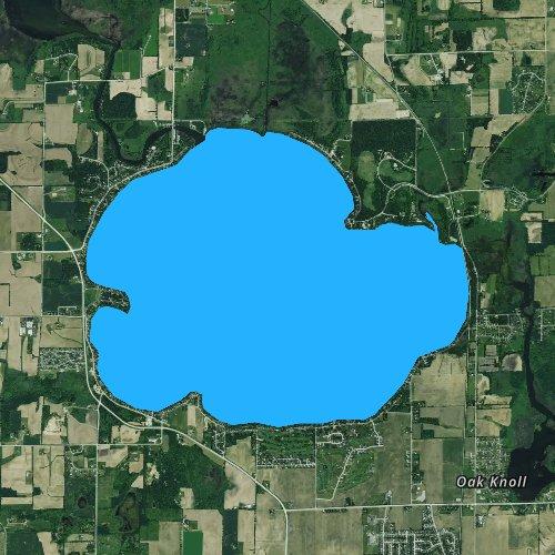 Fly fishing map for Lake Kegonsa, Wisconsin