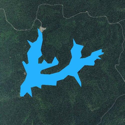 Fly fishing map for Lake Keokee, Virginia