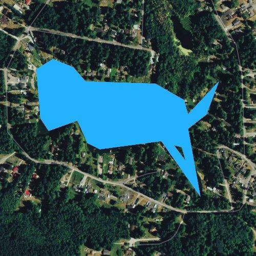 Fly fishing map for Lake Ketchum, Washington