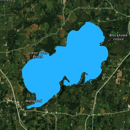 Fly fishing map for Lake Koshkonong, Wisconsin