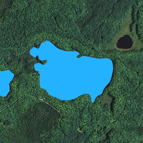 Fly fishing map for Lake Laura: Forest, Wisconsin