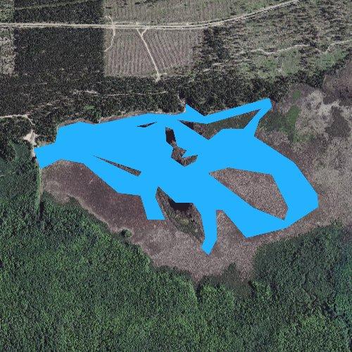 Fly fishing map for Lake LeVasseur, Michigan