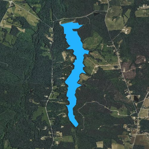 Fly fishing map for Lake Lee, Virginia