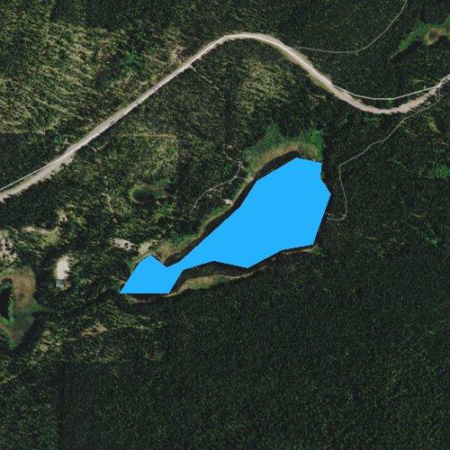 Fly fishing map for Lake Leo, Washington