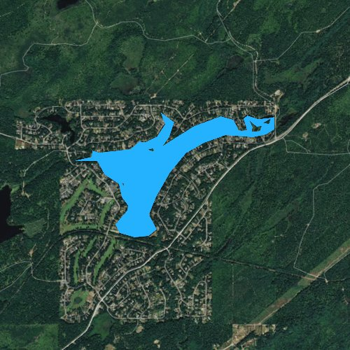 Fly fishing map for Lake Limerick, Washington