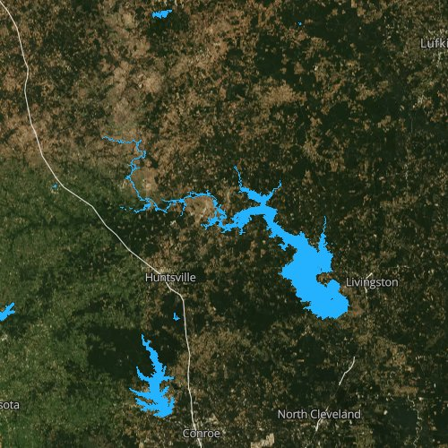 Fly fishing map for Lake Livingston, Texas