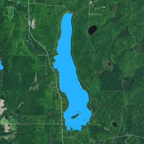 Fly fishing map for Lake Lucerne: Forest, Wisconsin