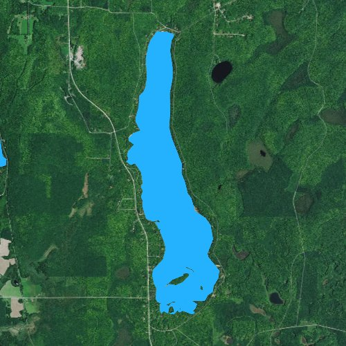 Fly fishing map for Lake Lucerne, Wisconsin