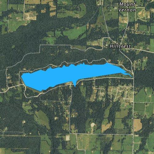 Fly fishing map for Lake Ludwig, Arkansas