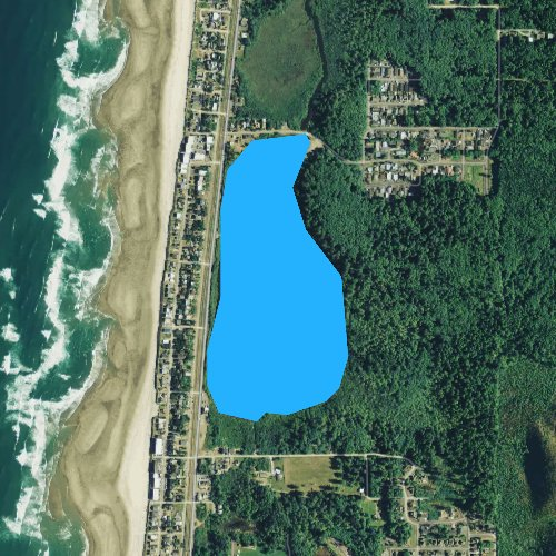 Fly fishing map for Lake Lytle, Oregon
