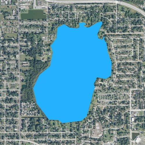 Fly fishing map for Lake Mann, Florida