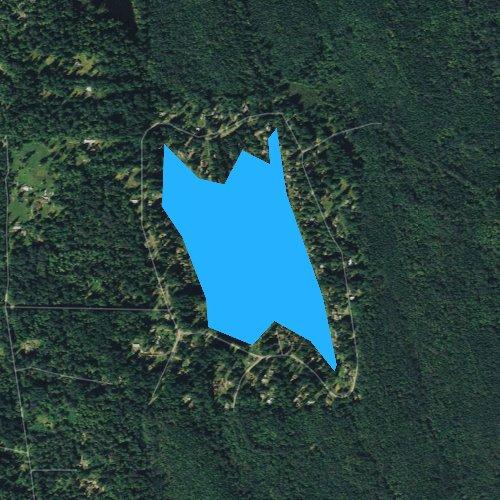 Fly fishing map for Lake Margaret, Washington