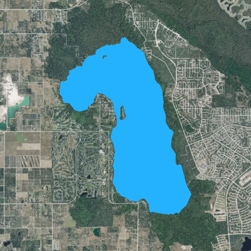 Fly fishing map for Lake Marion, Florida