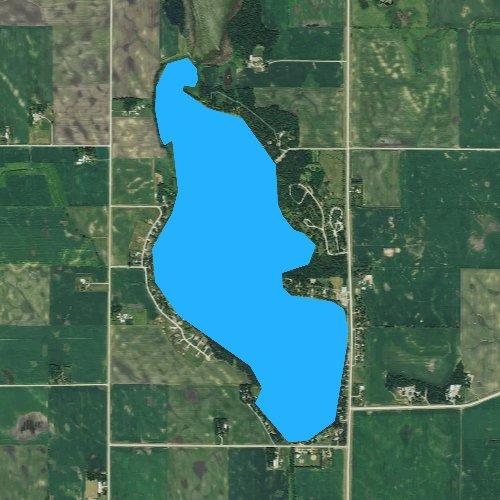 Fly fishing map for Lake Marion, Minnesota