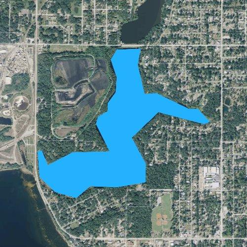 Fly fishing map for Lake Martin, Florida