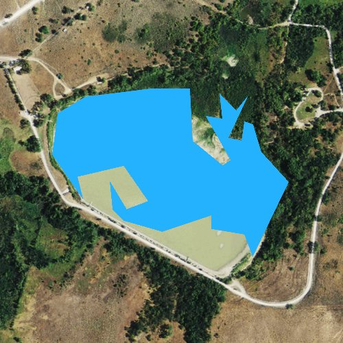 Fly fishing map for Lake Marvin, Texas