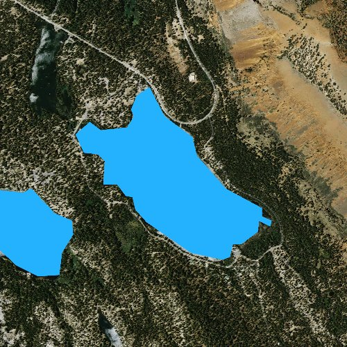 Fly fishing map for Lake Mary, California