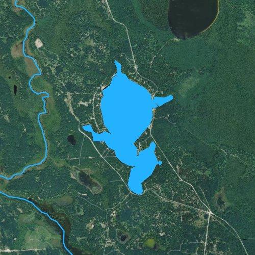 Fly fishing map for Lake May, Michigan