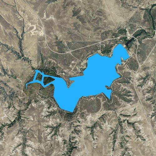 Fly fishing map for Lake McClellan, Texas