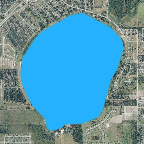 Fly fishing map for Lake McLeod, Florida