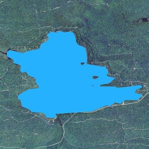 Fly fishing map for Lake Medora, Michigan