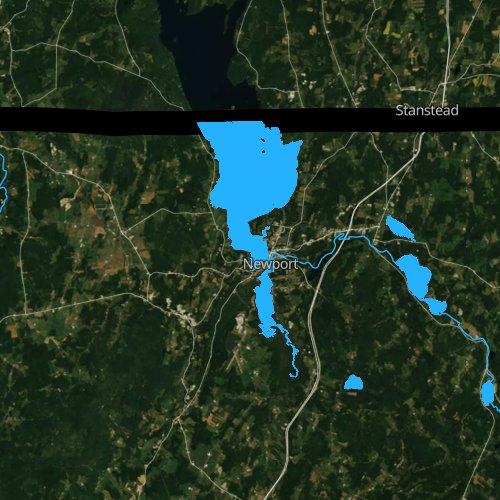 Fly fishing map for Lake Memphremagog, Vermont