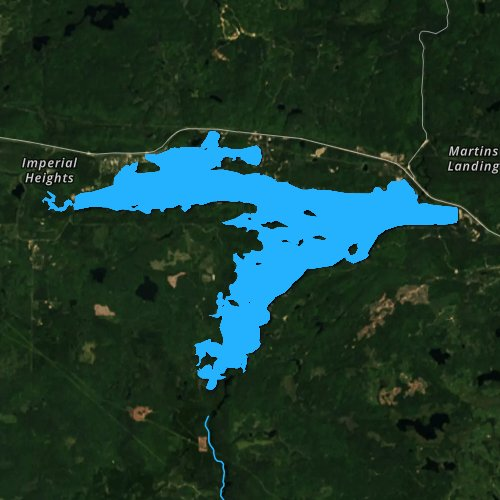 Fly fishing map for Lake Michigamme, Michigan