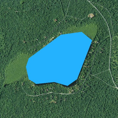 Fly fishing map for Lake Minisink, Pennsylvania