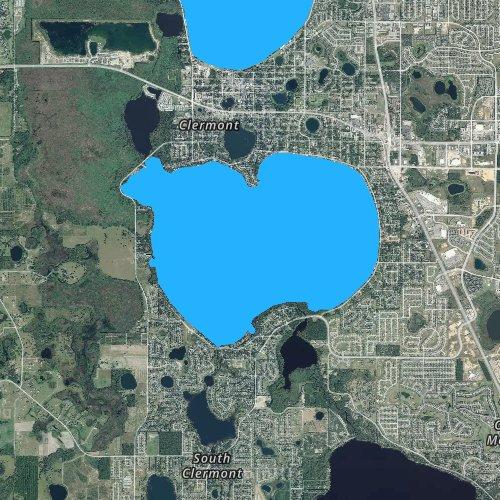 Fly fishing map for Lake Minnehaha, Florida