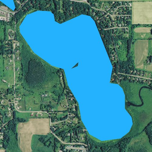 Fly fishing map for Lake Montanis, Wisconsin