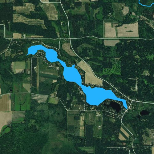 Fly fishing map for Lake Morris, Wisconsin