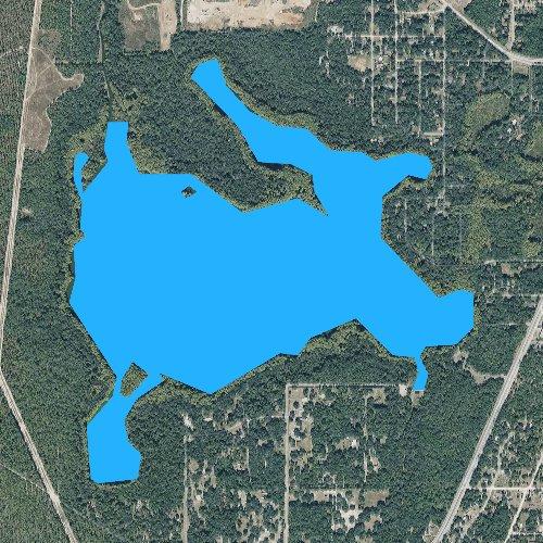 Fly fishing map for Lake Munson, Florida
