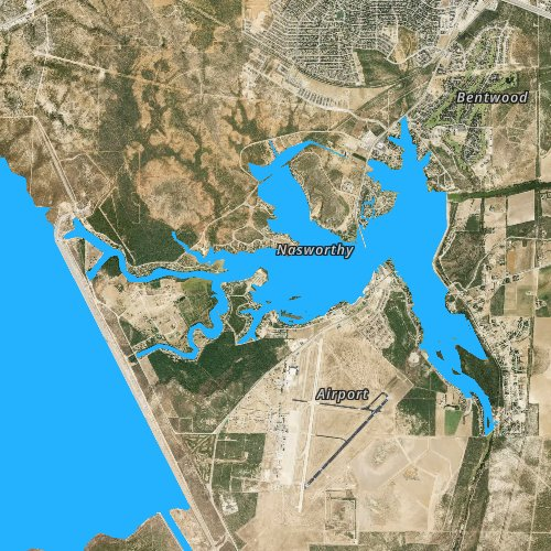 Fly fishing map for Lake Nasworthy, Texas