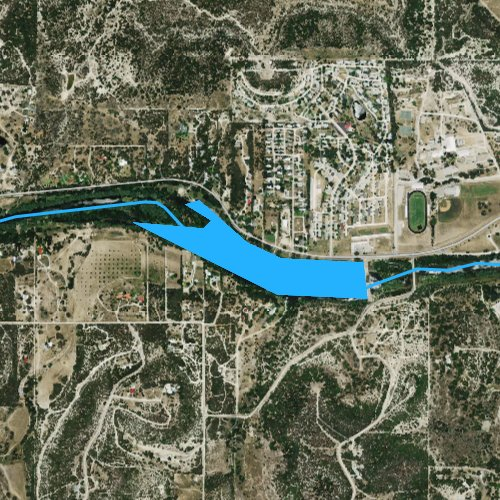 Fly fishing map for Lake New Ingram, Texas