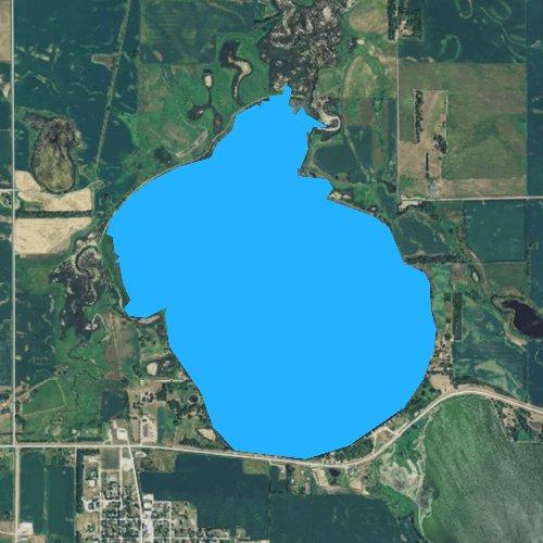 Fly fishing map for Lake Norden, South Dakota
