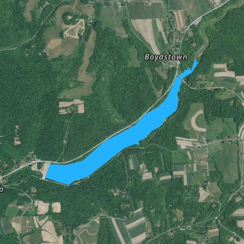 Fly fishing map for Lake Oneida, Pennsylvania
