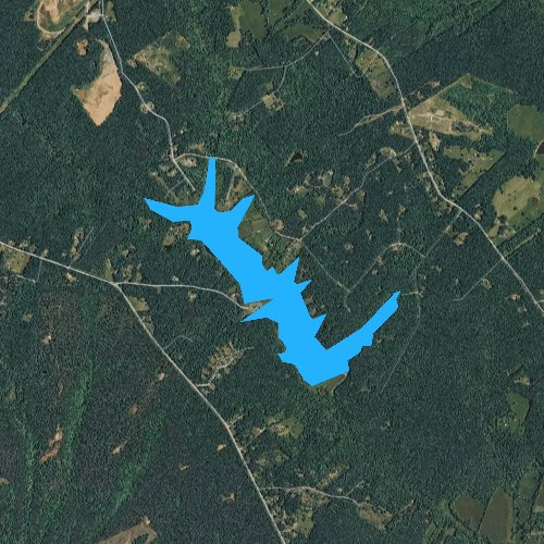 Fly fishing map for Lake Orange, Virginia