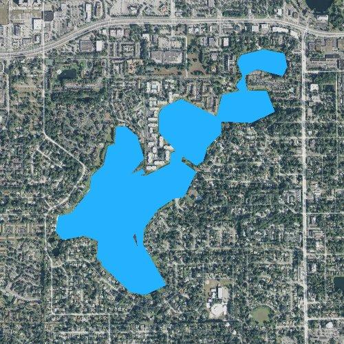 Fly fishing map for Lake Orienta, Florida