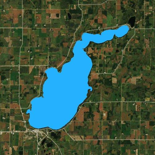 Fly fishing map for Lake Osakis, Minnesota