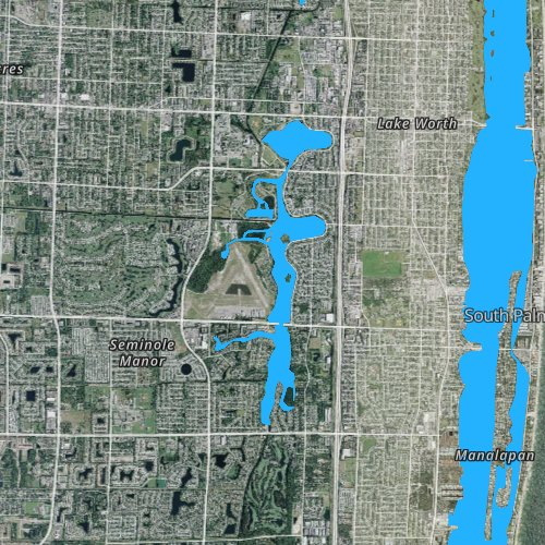 Fly fishing map for Lake Osborne, Florida
